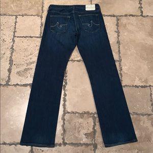 AG men's protégé straight leg blue jean 32/34 new